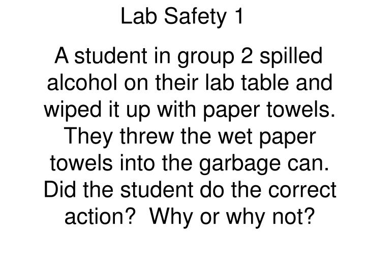 Lab Safety 1