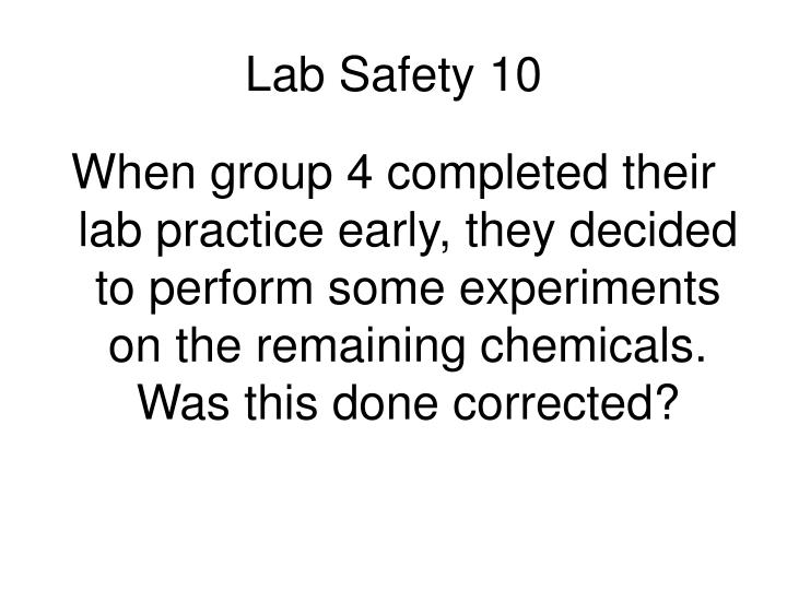 Lab Safety 10