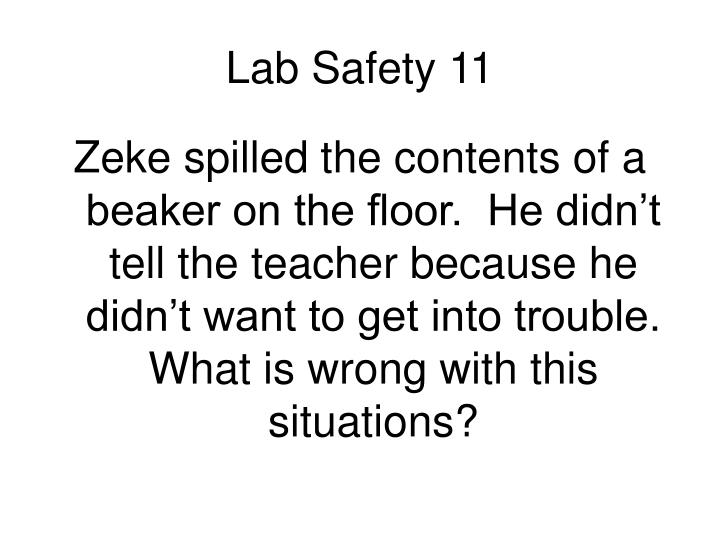 Lab Safety 11