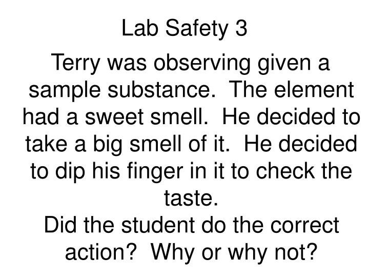 Lab Safety 3