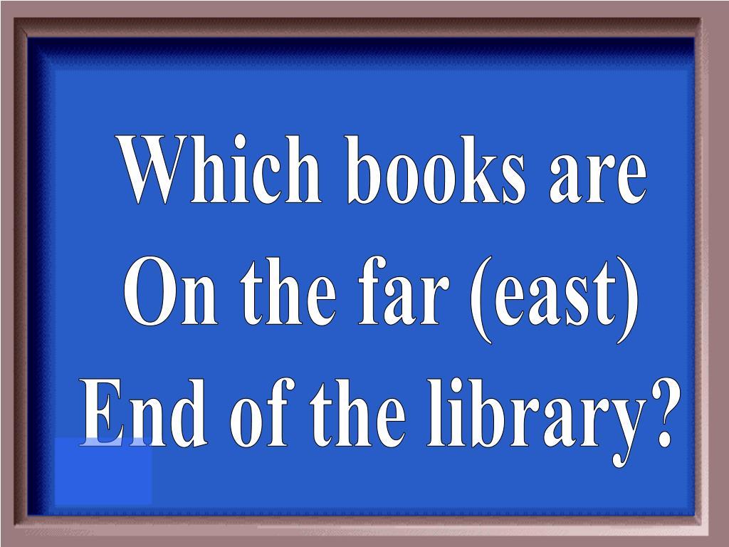 Which books are