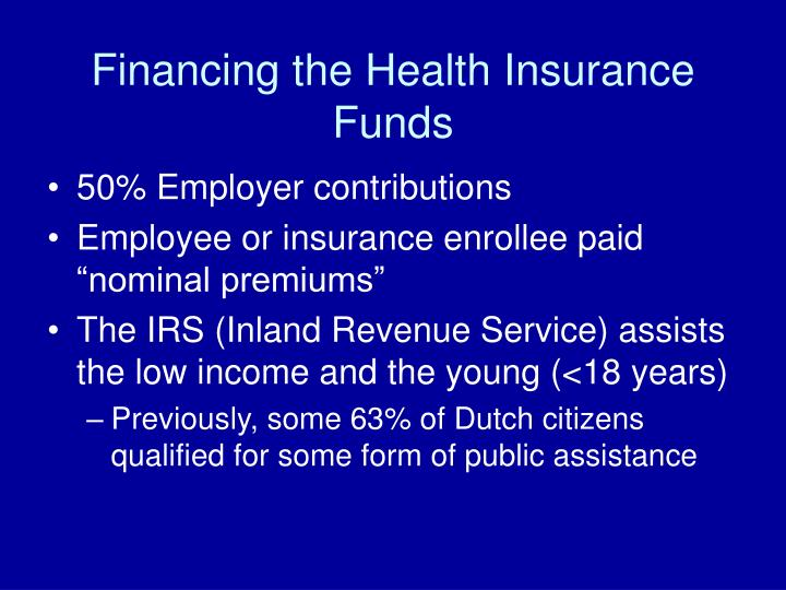 Financing the Health Insurance Funds