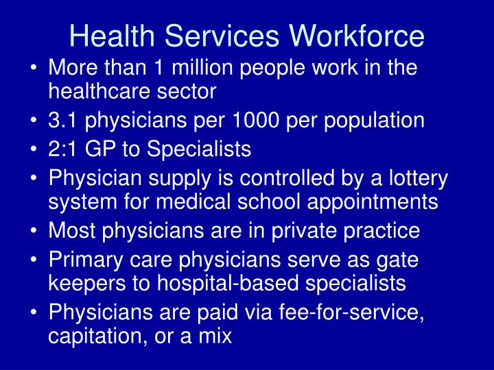 Health Services Workforce