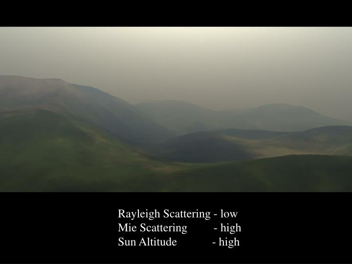 Rayleigh Scattering - low