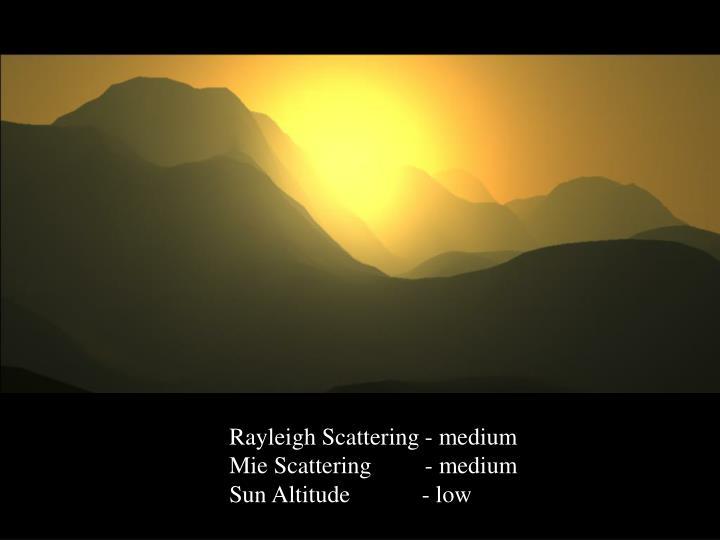 Rayleigh Scattering - medium