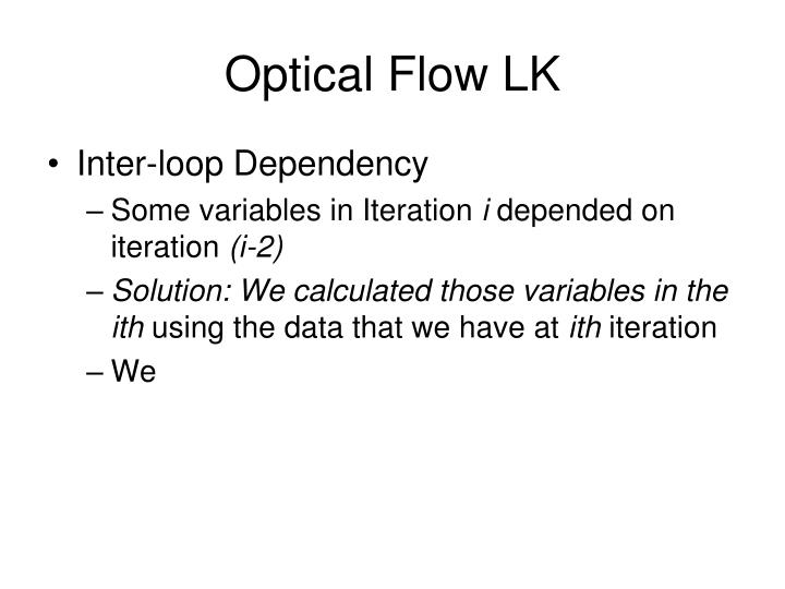 Optical Flow LK