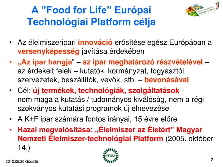A food for life eur pai technol giai platform c lja
