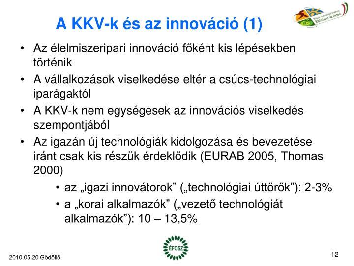 A KKV-k és az innováció (1)