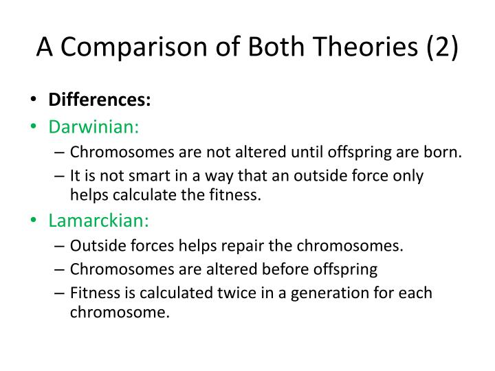 A Comparison of Both Theories (2)