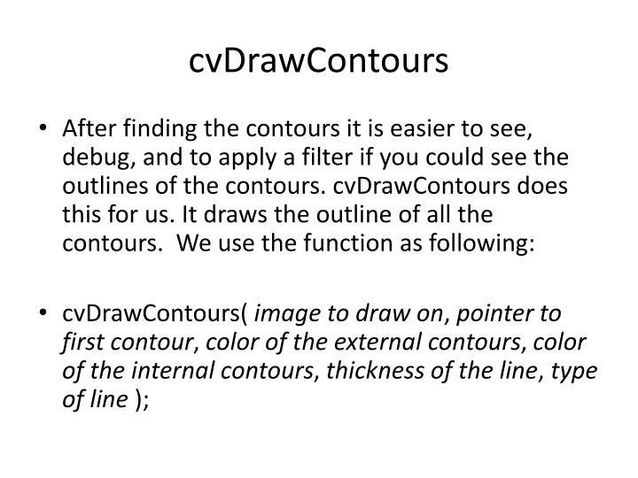 cvDrawContours