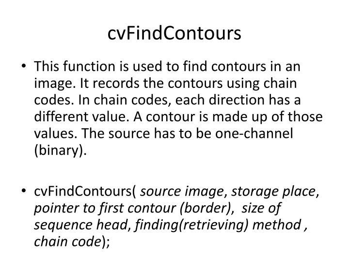 cvFindContours