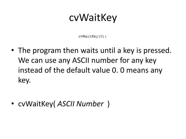 cvWaitKey