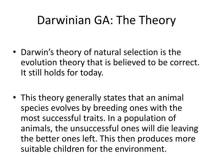 Darwinian GA: The Theory