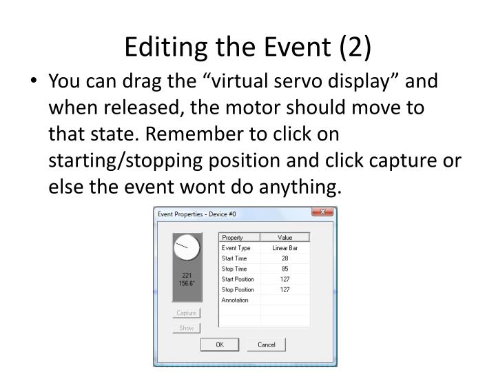 Editing the Event (2)