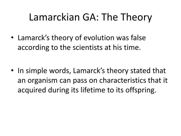 Lamarckian GA: The Theory
