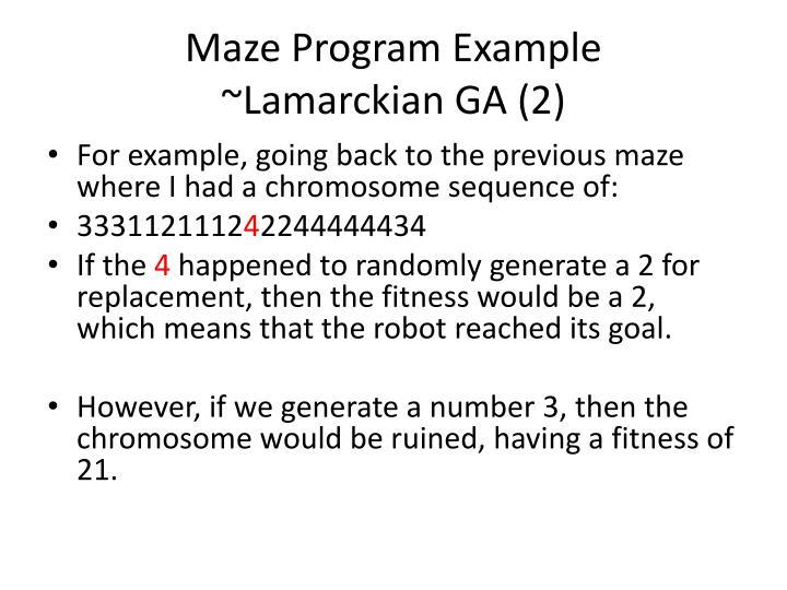 Maze Program Example