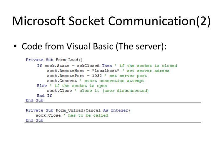 Microsoft Socket Communication(2)