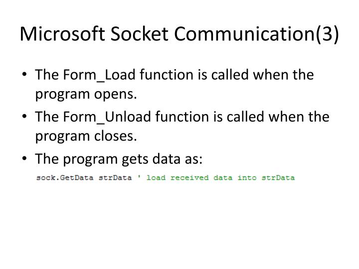 Microsoft Socket Communication(3)