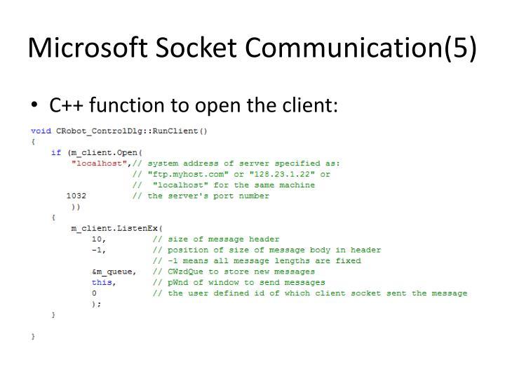 Microsoft Socket Communication(5)