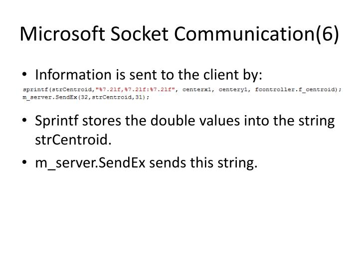Microsoft Socket Communication(6)