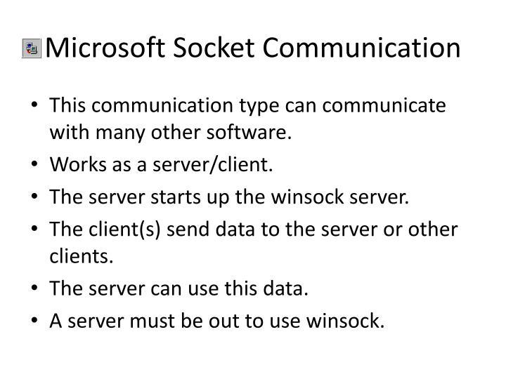 Microsoft Socket Communication