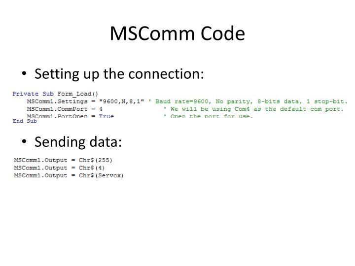 MSComm Code