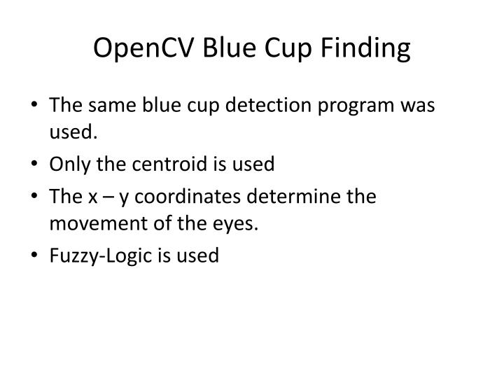 OpenCV Blue Cup Finding