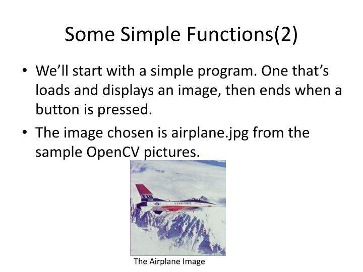 Some Simple Functions(2)