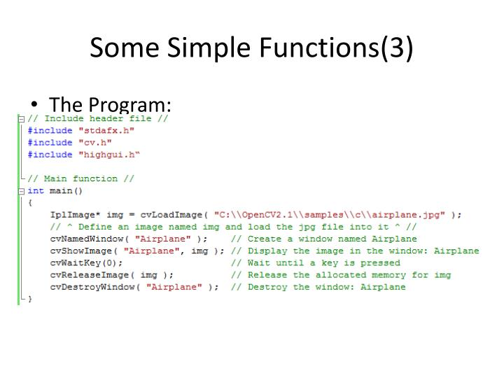 Some Simple Functions(3)