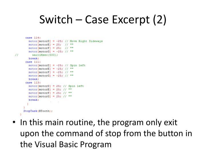 Switch – Case Excerpt (2)