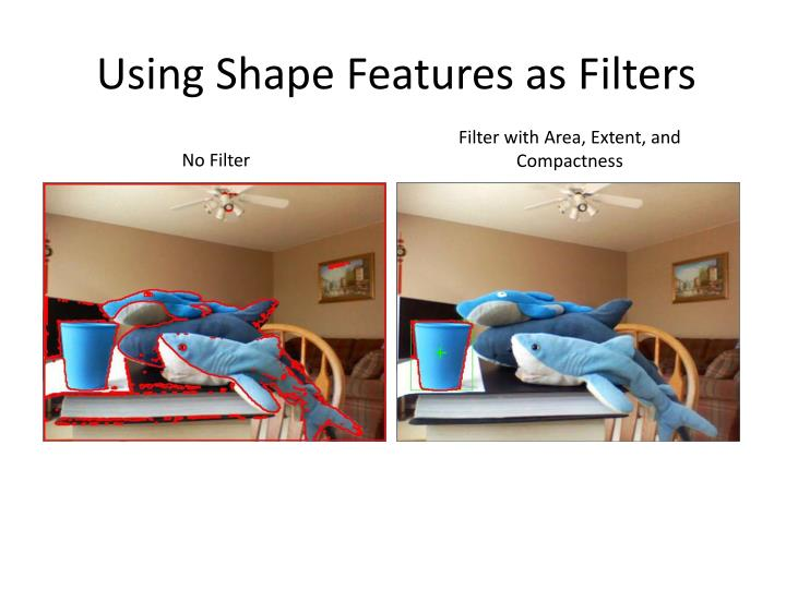 Using Shape Features as Filters