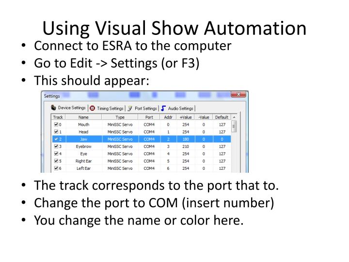 Using Visual Show Automation