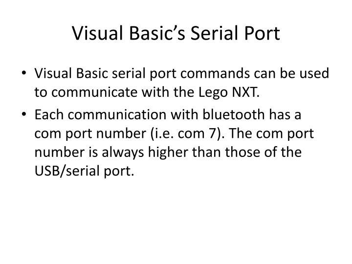 Visual Basic's Serial Port