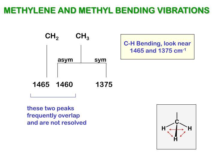 METHYLENE AND METHYL BENDING VIBRATIONS