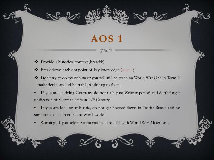 AOS 1
