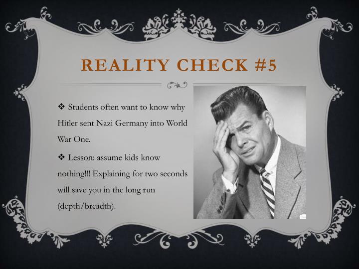 Reality check #5