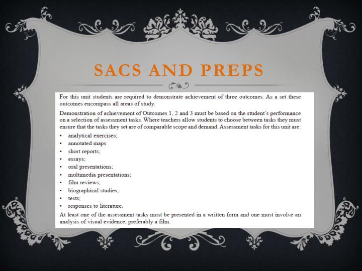 Sacs and preps