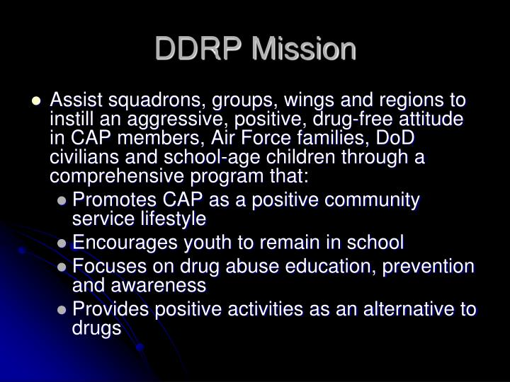 DDRP Mission