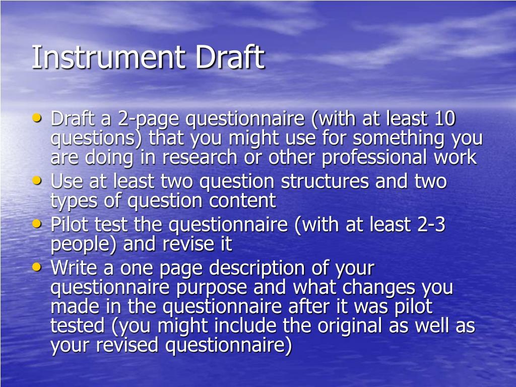Instrument Draft