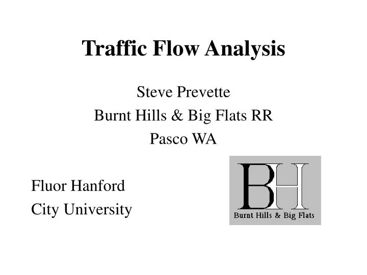 Traffic flow analysis