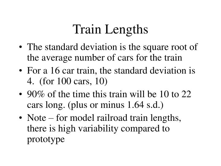 Train Lengths