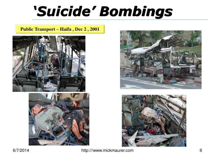 'Suicide' Bombings