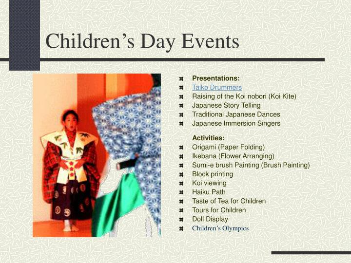 Children's Day Events