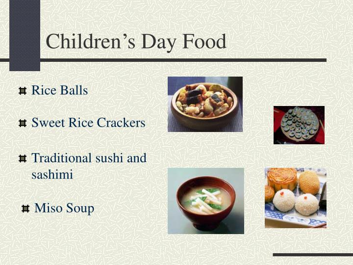 Children's Day Food
