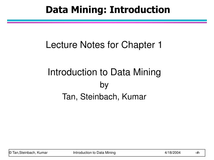 Data mining introduction
