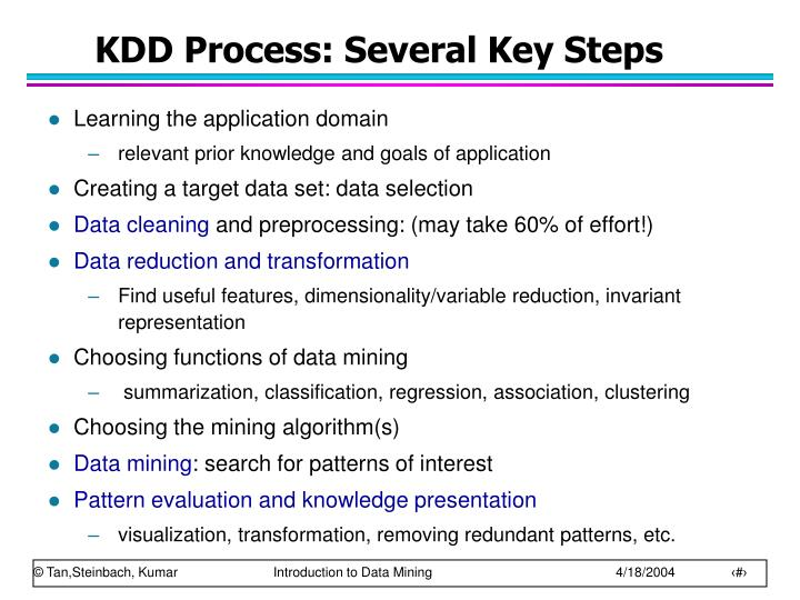 KDD Process: Several Key Steps