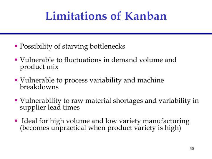 Limitations of Kanban