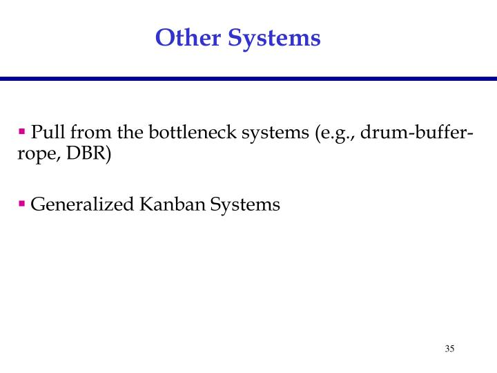 Other Systems