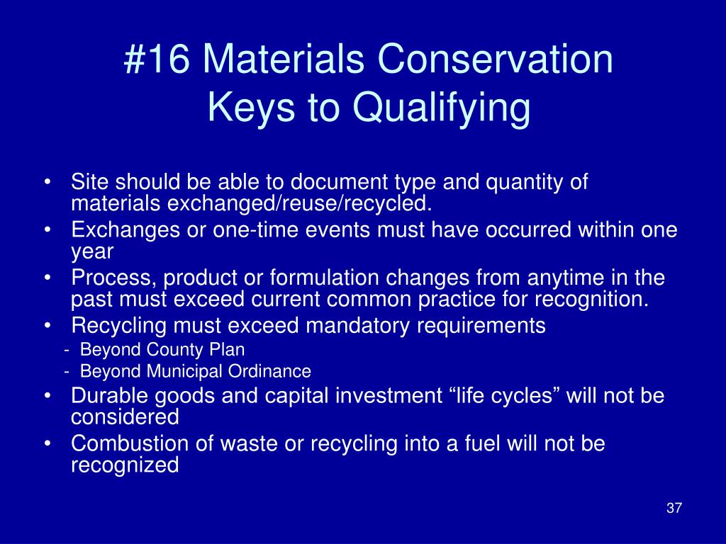 #16 Materials Conservation