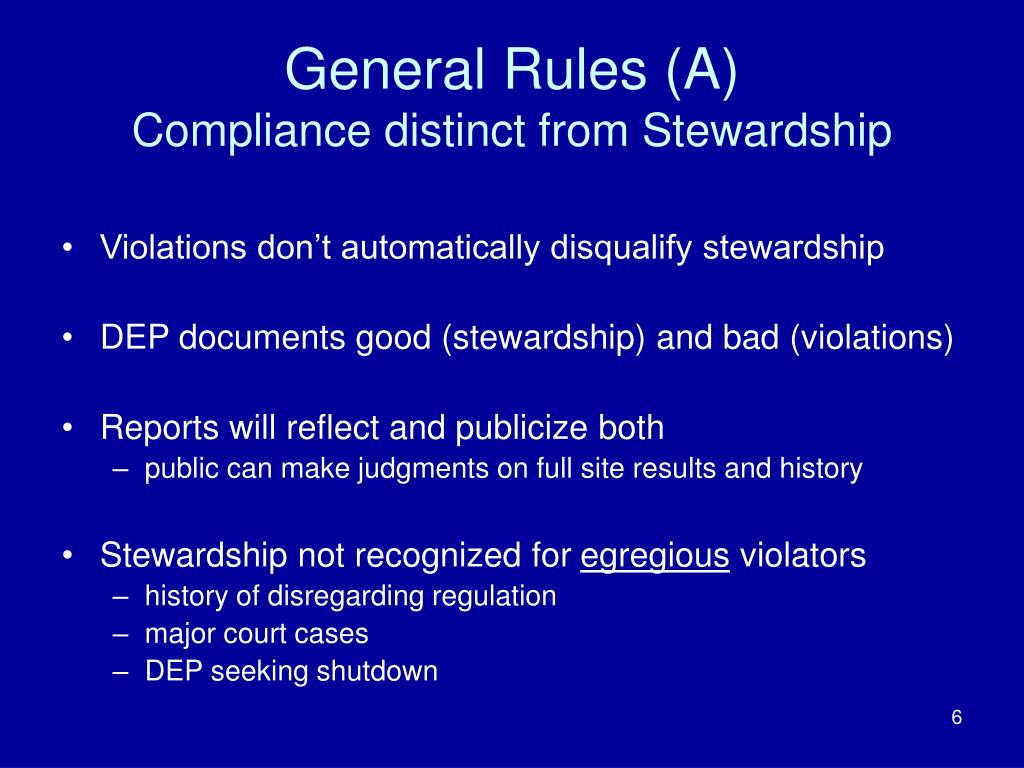 General Rules (A)